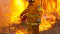 Australia Firefighters Battle Hot, Windy Conditions