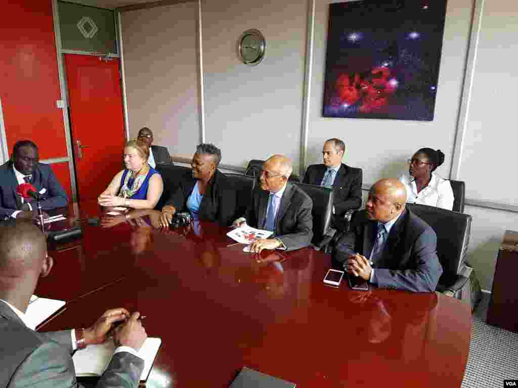 VOA Director Amanda Bennett and VOA Africa division management visit NBS Television.
