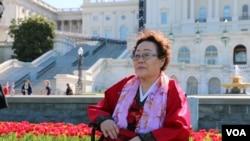 韩国慰安妇幸存者李容洙(美国之音杨晨拍摄)