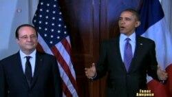 Обама нагодував Олланда салатом з власного городу