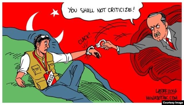 Brazilian cartoonist Carlos Latuff's take on the state of press freedom in Turkey.