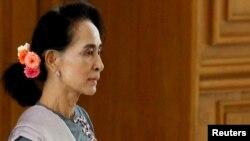 Nhà lãnh đạo Aung San Suu Kyi của Myanmar.