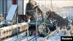 انقرہ میں ہونے والے ٹرین تصادم کا ایک منظر