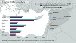 Syria - Deaths from conflict, updated February 14, 2013