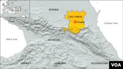 Map of Chechnya. Click to enlarge