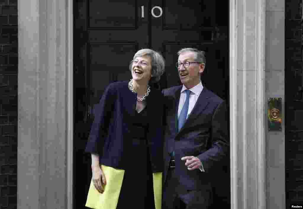What is happening at 10 Downing Street? Britain's new Prime Minister Theresa May and husband Philip are moving into her official office in central London.