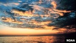 墨西哥灣美國路易斯安那州沿海。
