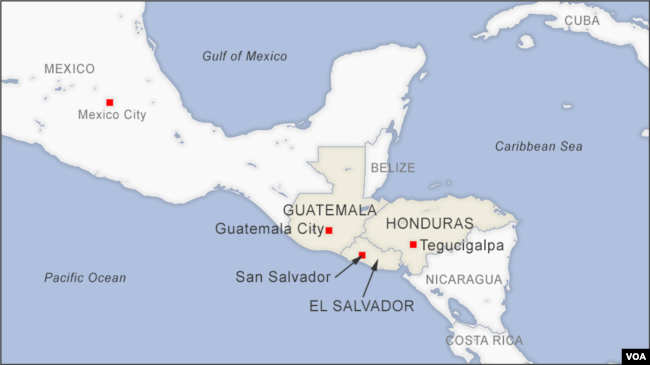 Guatemala, Honduras and El Salvador