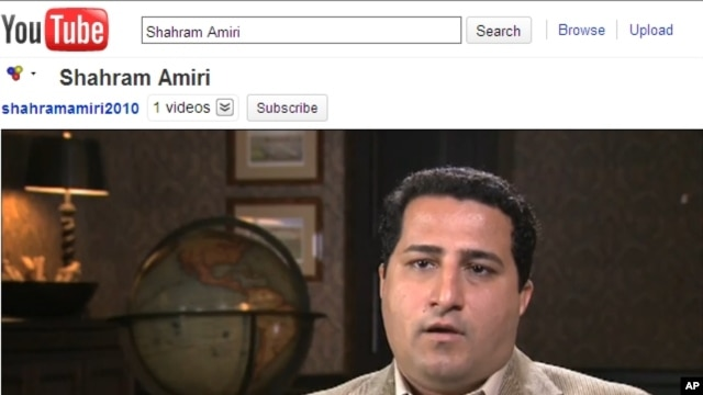 A video posted on You Tube shows a man identified as Shahram Amiri, a nuclear scientist from Iran, 7 Jun 2010