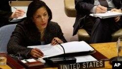 Duta Besar AS untuk PBB Susan Rice menyambut gembira terpilihnya kembali Amerika masuk Dewan HAM PBB (foto: dok).