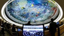 Overview of the room during the urgent debate of the Human Rights Council, file photo.