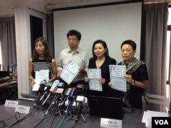 香港记协公布新闻自由指数记者会 (美国之音记者申华拍摄)