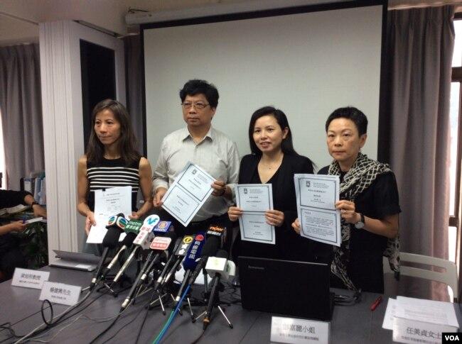 香港記協公佈新聞自由指數記者會(美國之音記者申華拍攝)