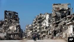 نمایی از شهر حمص در سوریه