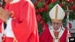 教宗方济各在古巴城市奥尔金主持弥撒 (2015年9月21日)