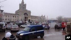 Железнодорожный вокзал Волгограда. Россия. 29 декабря 2013 г.