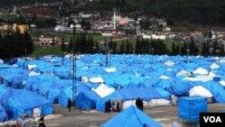 Perkemahan penampungan pengungsi Suriah di Turki (Foto: dok). Turki menutup kedutaannya di Suriah kerana alasan keamanan.