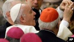 Le pape François lors d'une audience à Rome, Vatican, 26 octobre 2015.