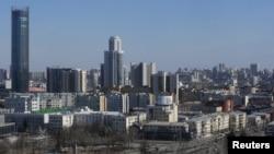 Pogled na grad Jekaterinburg, Rusija, 14. aprila 2018.