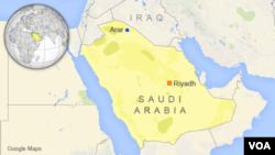 사우디 아라비아 북부 이라크 접경 아라르 지역. (자료사진)