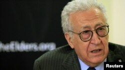 UN Envoy to Syria Lakhdar Brahimi pictured in May 2012 photograph.
