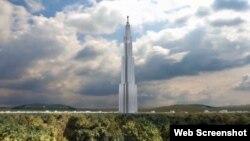 """世界第一高樓, 長沙""""天空城市""""在長沙郊區破土動工。 (資料照片)"""