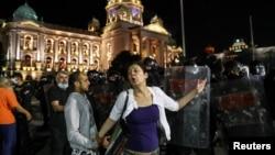 Protesti u Beogradu, 7. jul 2020. (Foto: Reuters/Marko Đurica)