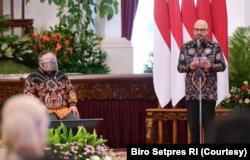 Kepala BPPT Hammam di Istana Negara, Senin (8/3). BPPT berkomitmen untuk mendorong Indonesia bisa menciptakan lebih banyak teknologi canggih di masa depan (Foto: Courtesy/Biro Setpres)