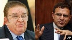 عمر زاخیلوال و عبدالرحیم وردک وزرای مالیه و دفاع کابینۀ حامد کرزی