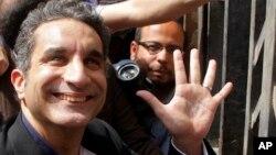 Satiris, Bassem Youssef memenangkan kasus di pengadilan Kairo setelah gugatan untuk melarang acara televisinya dinilai Hakim tidak punya dasar hukum (foto: dok).