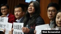 """""""长毛""""梁国雄宣布参与民间投票和特首选举(苹果日报图片)"""