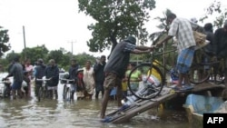 Một khu vực bị ngập lụt ở Batticaloa, khoảng 220 killomet về phía đông của Colombo, Sri Lanka