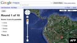 Izgled jedne od mapa na sajtu Gugl meps