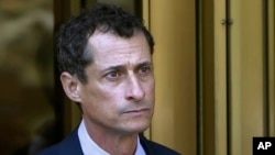 FILE - Former Congressman Anthony Weiner has left a New York City halfway house after completing his prison sentence for illicit online contact with a 15-year-old girl.