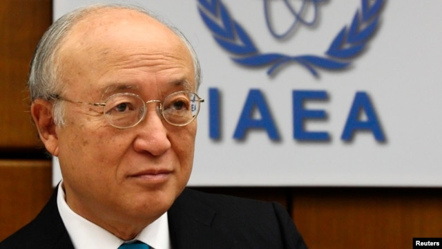 International Atomic Energy Agency (IAEA) Director General Yukiya Amano prepares for a board of governors meeting at the IAEA headquarters in Vienna, June 2, 2014.