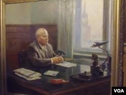 1961年苏联油画上的赫鲁晓夫(美国之音白桦拍摄)