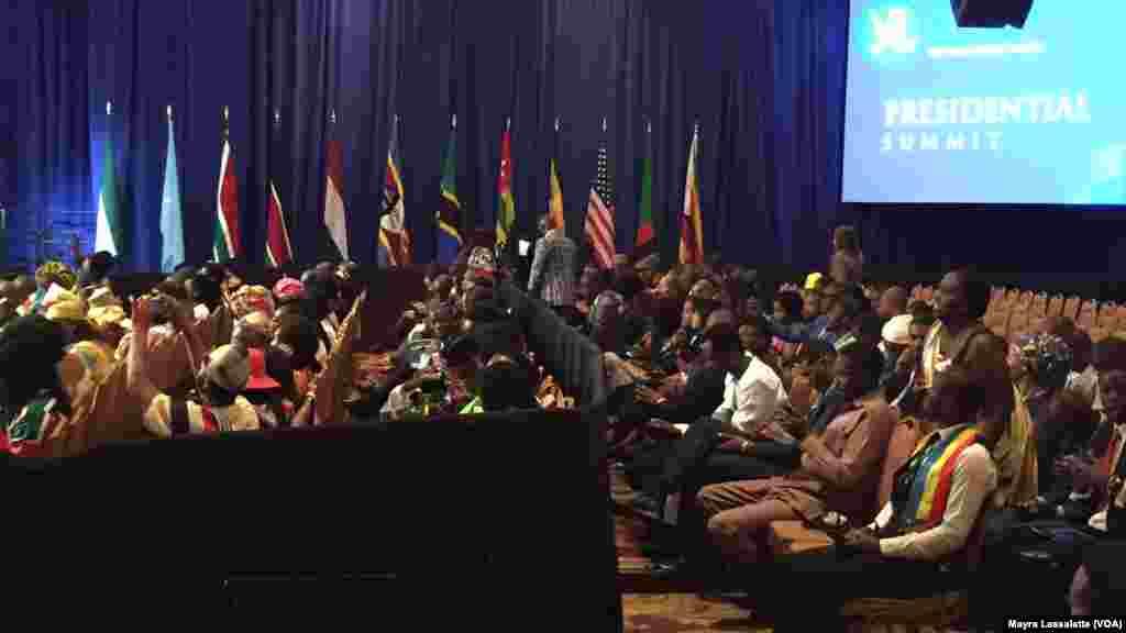 La discussion entre le président américain Barack Obama et les participants au YALI 2015, Washington, 3 août 2015.