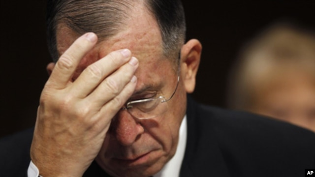 U.S. Admiral Michael Mullen on Capitol Hill, Washington, D.C., Sept. 22, 2011 (file photo).