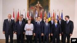 Evropski lideri, učesnici samita o migrantima u Beču, 24. septembra 2016.