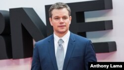 Matt Damon poses for photographers upon arrival at the European premiere of the film 'Jason Bourne' in London, July 11, 2016.