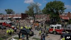 Mesto eksplozije u Baltimoru, 10. avgusta 2020. (Foto: AP/Julio Cortez)