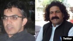 ہی ٹی ایم کے رہنما علی وزیر اور محسن داوڑ، فائل فوٹو