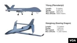 ຍົນ Drone ຫຍີ່ຫໍ້ Yilong ແລະ Xianglong ຂອງຈີນ.