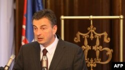 Guverner Narodne banke Srbije Dejan Šoškić na konferenciji za novinare