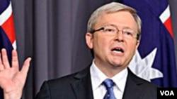 Menteri Luar Negeri Australia Kevin Rudd (foto: dok) mengatakan mereka yang pertama kali membocorkan lah yang bersalah, bukan situs WikiLeaks.
