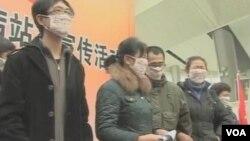 预防艾滋病站车宣传活动(视频截图)
