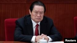 지난해 3월 중국 베이징의 인민대회당에서 열린 전국대표대회에 참석한 저우융캉 전 중국공산당 중앙위원. (자료사진)