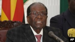 L'ancien président du pays, Robert Mugabe, Harare, Zimbabwe, 19 novembre 2017.