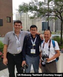 Chapdan, Eldor Asanov, Xurshid Daliyev va Jamshid Niyozov, Chikago, avgust, 2018