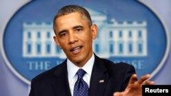 奥巴马总统3月1日与国会领袖会晤后,在白宫向记者发表讲话